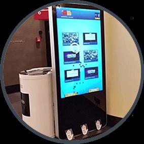 Foto von einem LCD Display mit der Magic Catalog Software