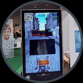 Foto von einem LCD Display mit der Gameful Promotion Software
