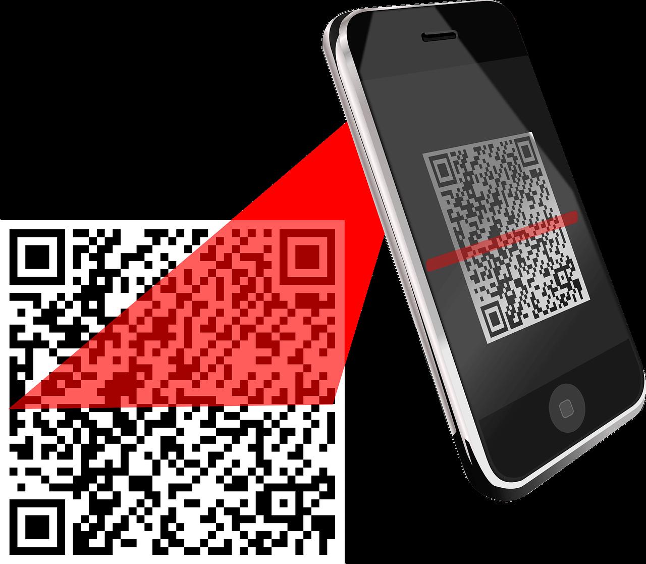 Smartphone scannt einen QR-Code