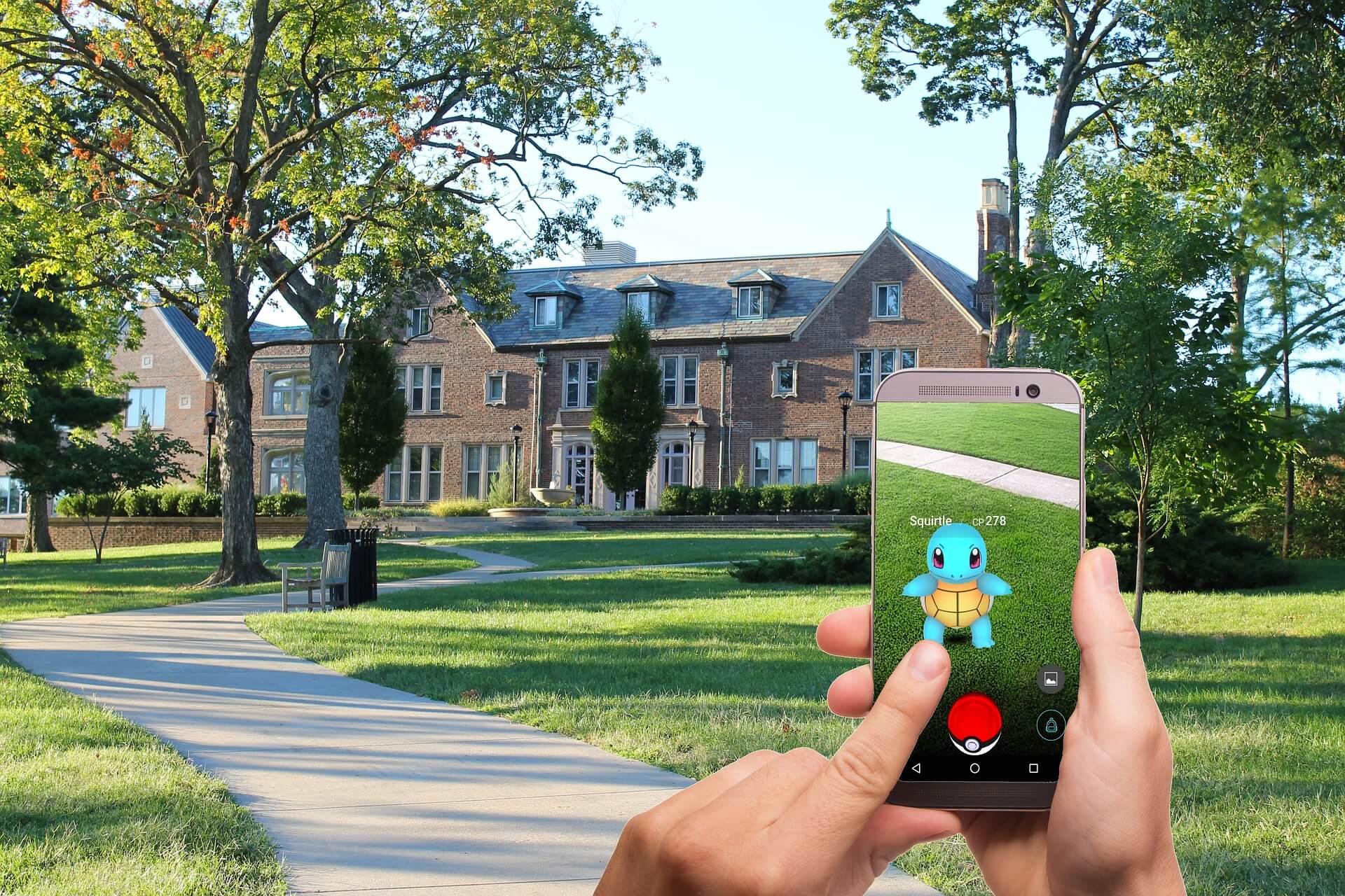 Augmented Reality mit pokemon go auf dem Smartphone