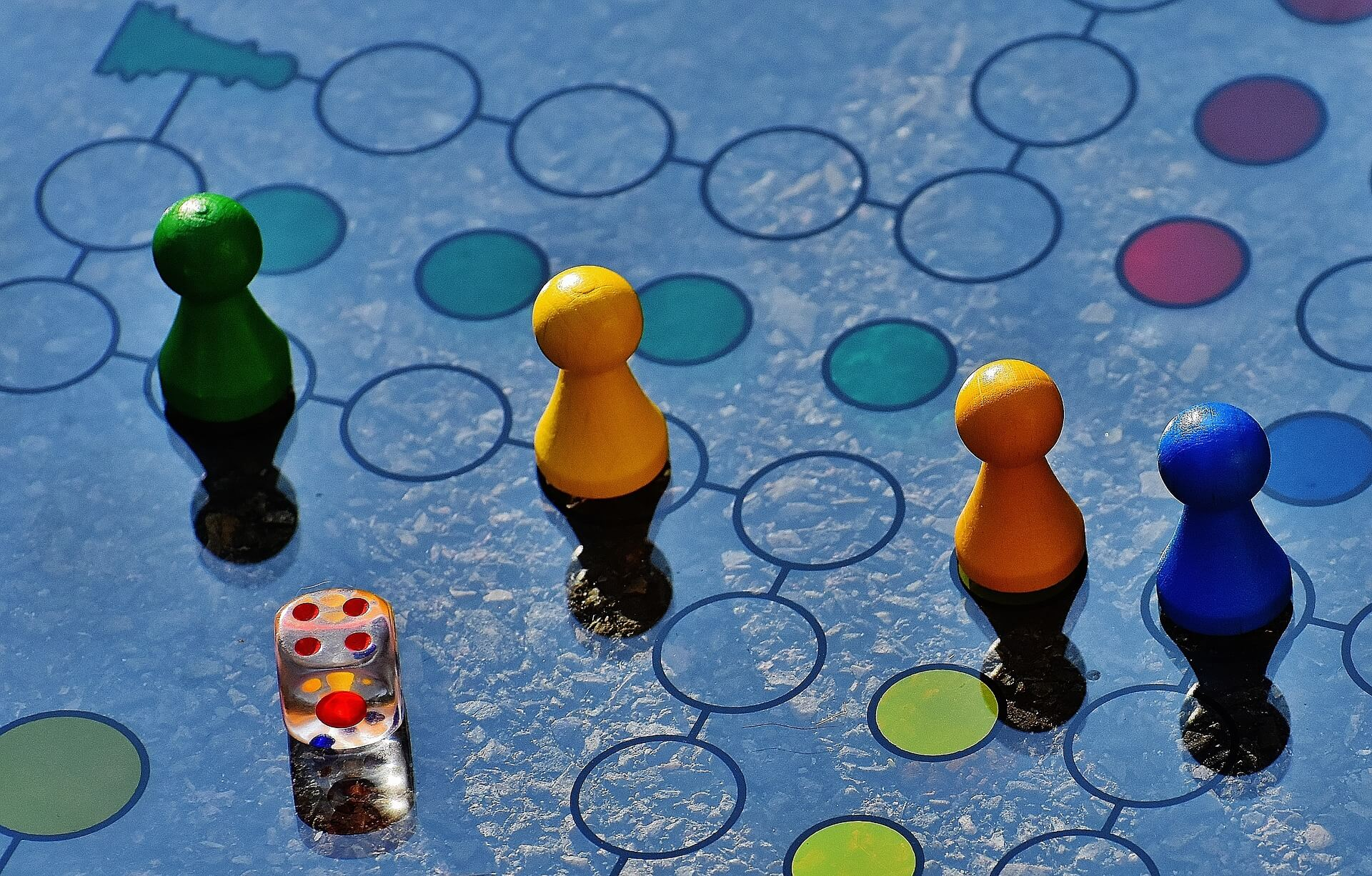 Mensche-Ärgere-Dich-Nicht Brettspiel