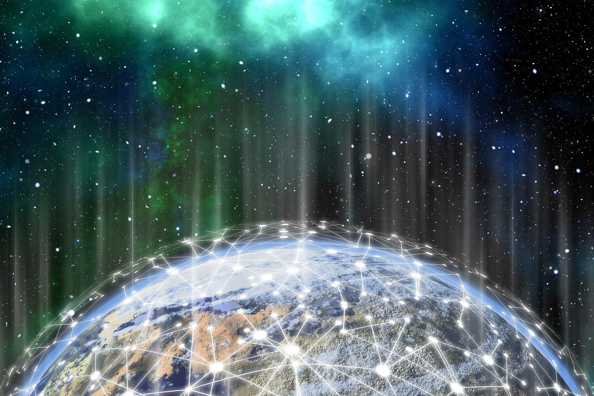 Vernetzte Erde als Beispiel für die Digitalisierung am POS